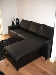 Black Leather Corner Suite
