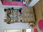 Old pine dresser £100 old pine wall mounted plate rack £20